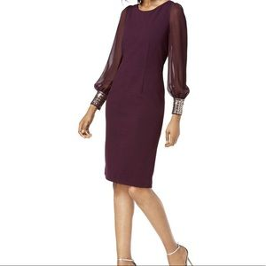 Women's Embellished Cuff Cocktail Dress